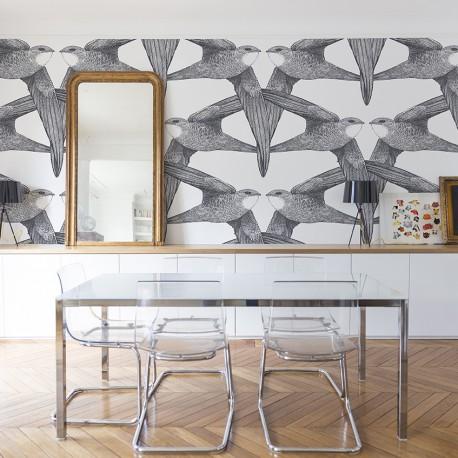 les papiers peints cosmopolitan nobilis organdi home. Black Bedroom Furniture Sets. Home Design Ideas