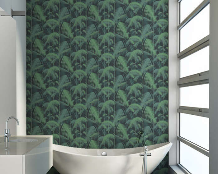 papier peint cole son contemporary restyled palm jungle. Black Bedroom Furniture Sets. Home Design Ideas