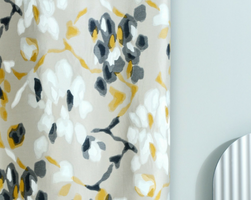 tissu leli vre tropical vendu metre lineaire. Black Bedroom Furniture Sets. Home Design Ideas
