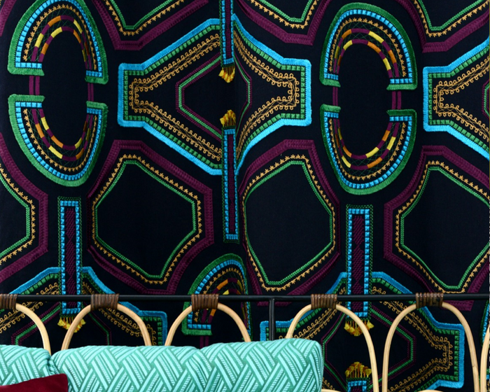 tissu leli vre kayapo vendu metre lineaire. Black Bedroom Furniture Sets. Home Design Ideas