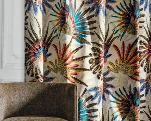 tissu casamance touraco vendu metre lineaire. Black Bedroom Furniture Sets. Home Design Ideas