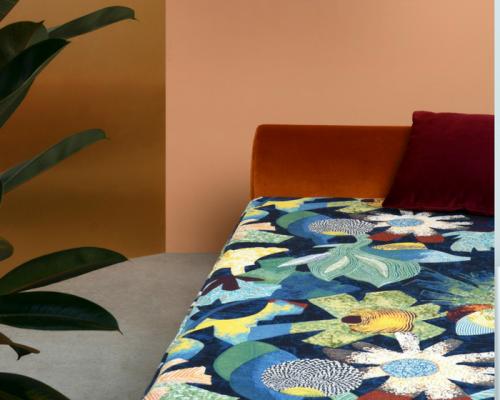 tissu leli vre palma vendu metre lineaire. Black Bedroom Furniture Sets. Home Design Ideas